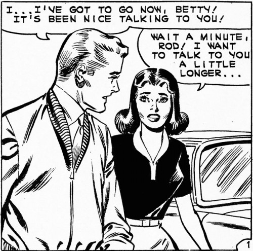 Original art from First Kiss #21, 1961.