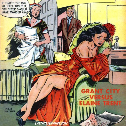Pencils and possibly inks by Matt Baker from the cover of True Love Pictorial #2, 1953.