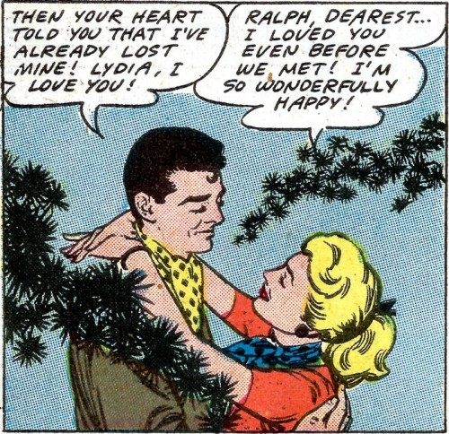 Art from First Kiss #5, 1958.