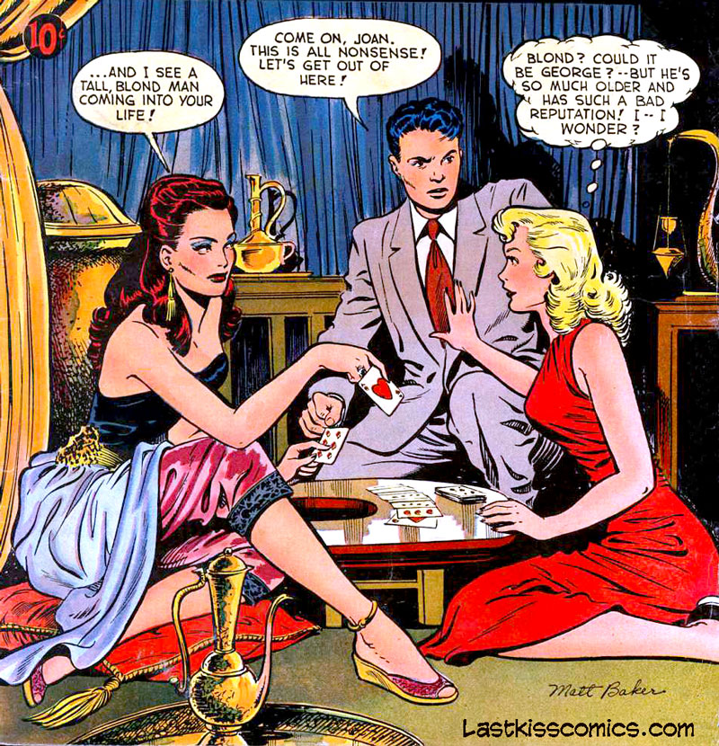 Art by Matt Baker from Pictorial Romances #7, 1951.