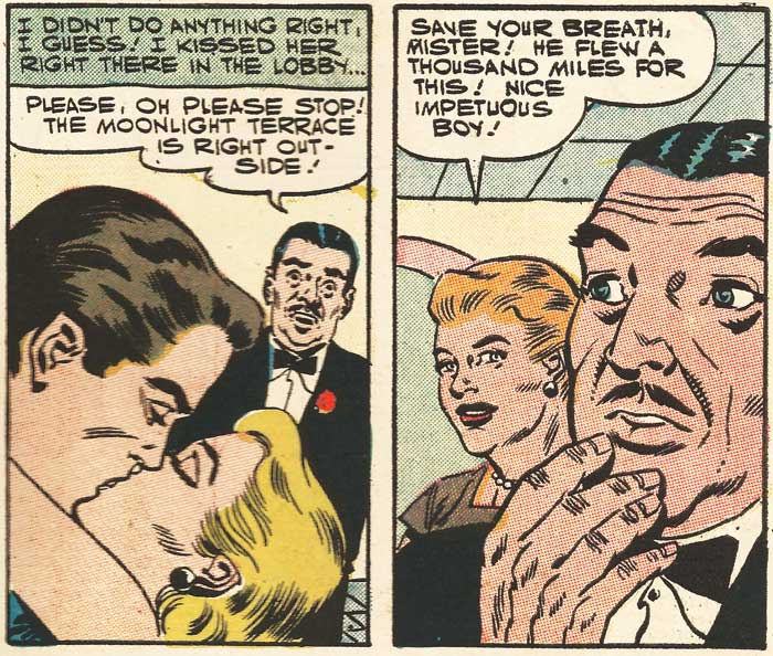 Original art from First Kiss #1, 1957.