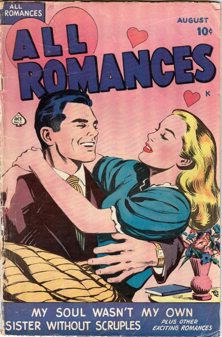 All Romances #1 (1949.) Artist may be Alice Kirkpatrick.