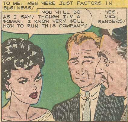 Art from First Kiss #10, 1959. The artist is probably Vince Colletta.