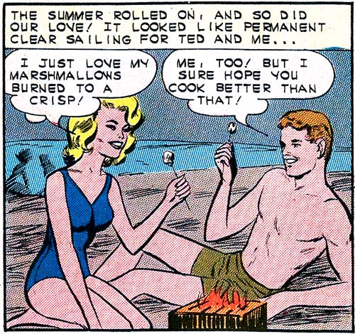 Art by Vince Colletta Studio from First Kiss #34, 1963.