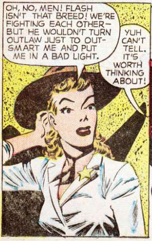 Pencils possibly by King Ward from Western Love Trails #7, 1949.