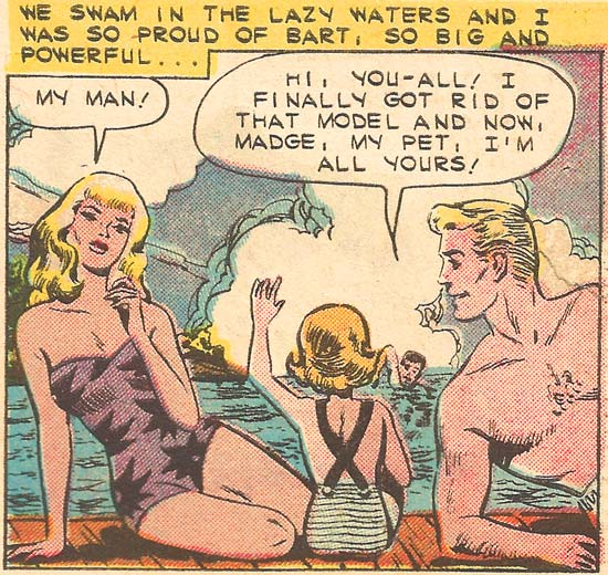 Art by Art Cappello & Vince Alascia from First Kiss #11, 1959.