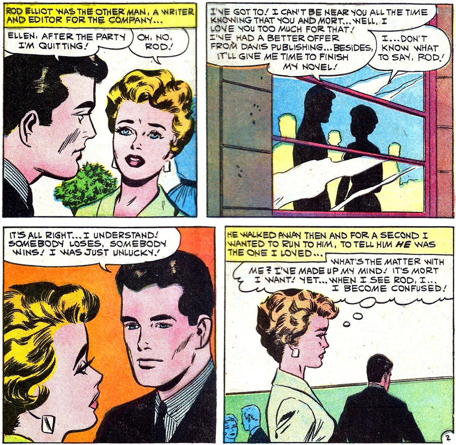 Original art by Vince Colletta Studio in First Kiss #16, 1960.