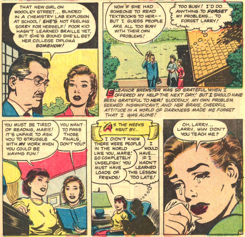 Nick Cardy art from My Real Love #5, 1952.