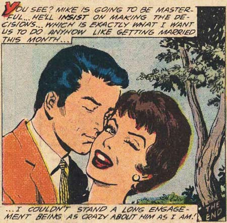 Art by Ernesto R. Garcia from Career Girl Romances #45, 1968.