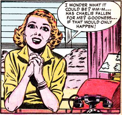 Art by Sam Citron from Brides Romances #6, 1954.