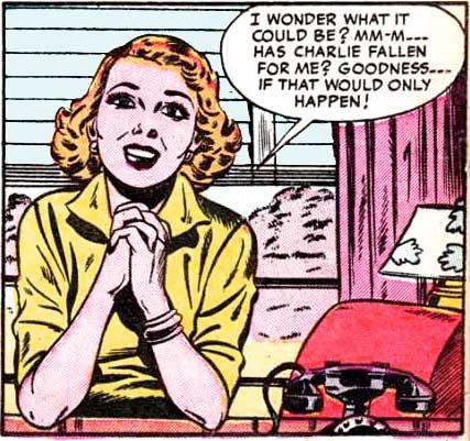 Art by Sam Citron from Brides Romances #6, 1954.
