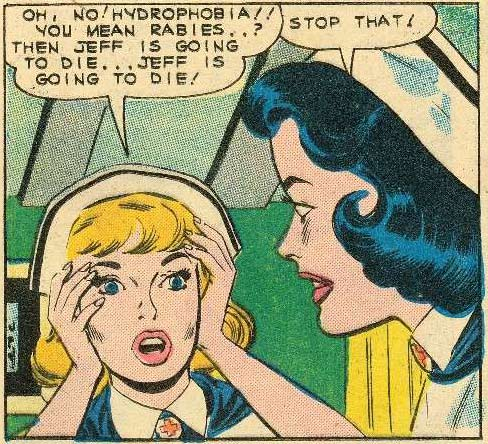 Original art possibly by Dick Giordano. From Nurse Betsy Crane #13, 1961.