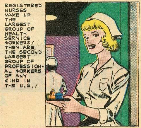 Art possibly by Charles Nicholas. Originally appeared in Nurse Betsy Crane #13, 1961.