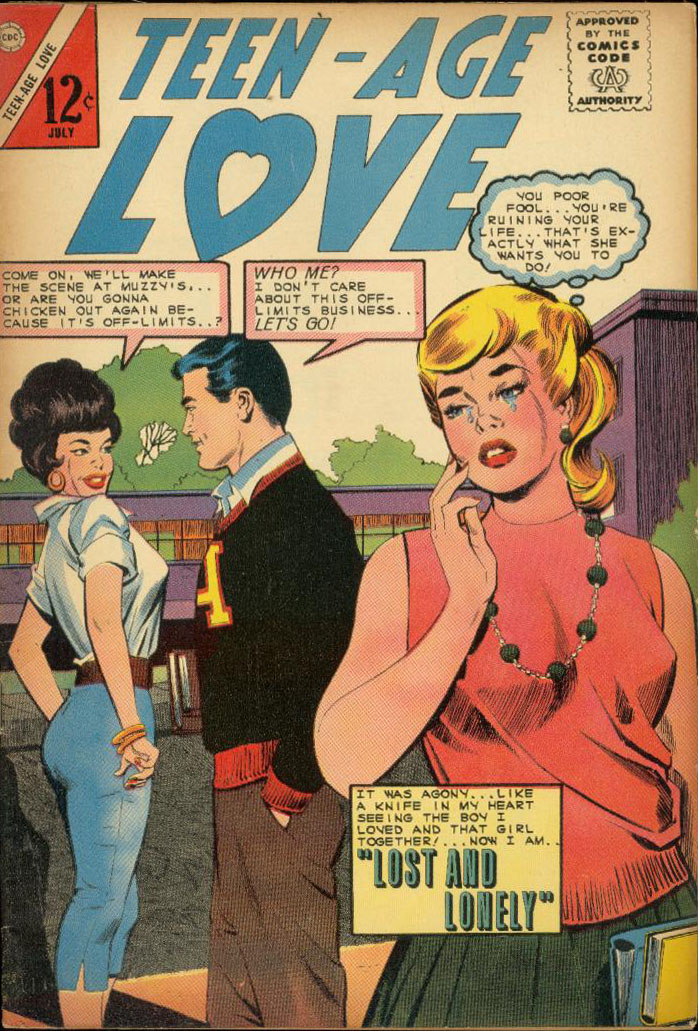 Art by Dick Giordano from Teen-Age Love #38, 1964.