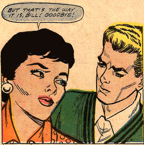 Original art by John Tartaglione in First Kiss #3, 1958.