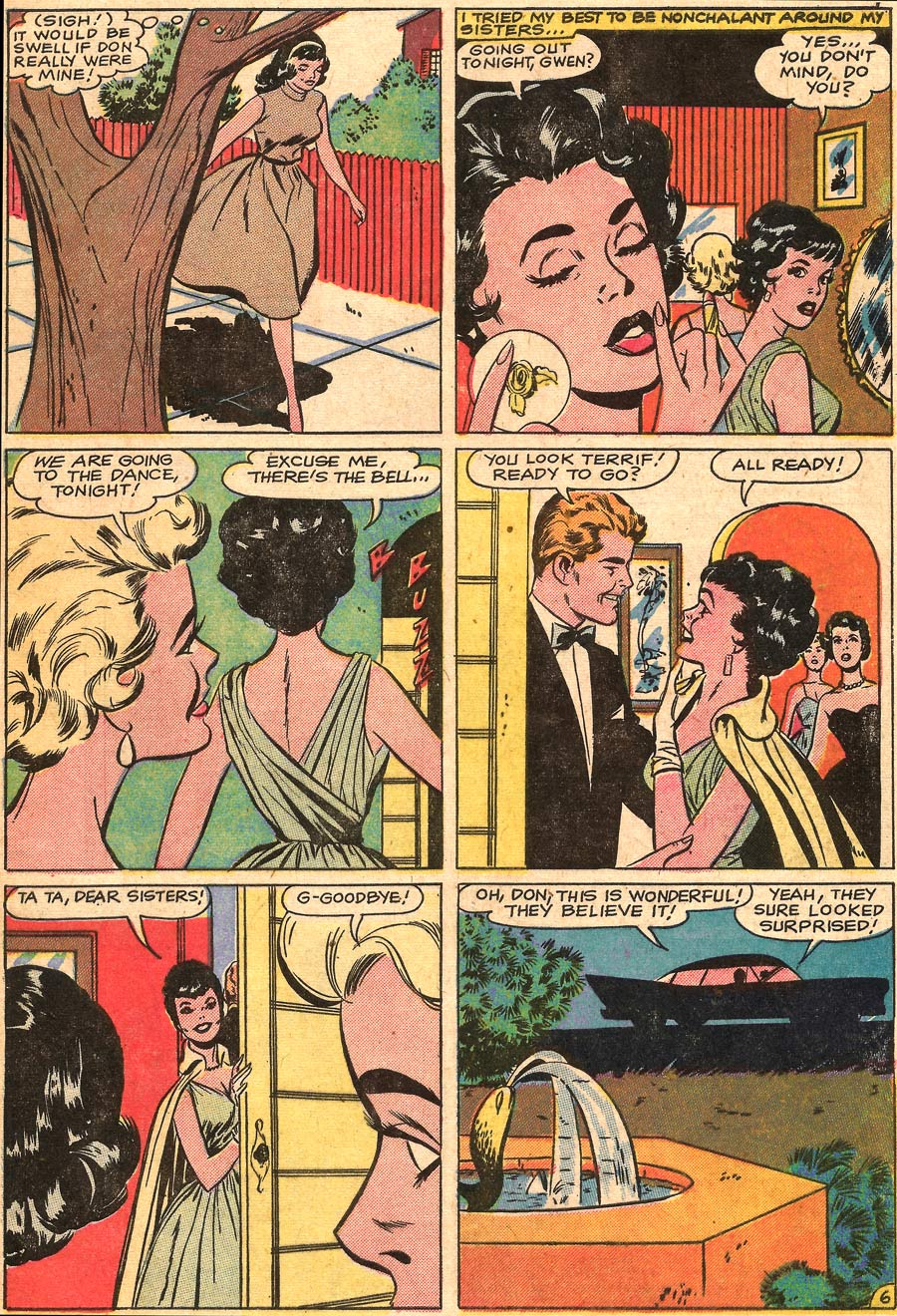 Original art by Vince Colletta Studio in First Kiss #8, 1959.