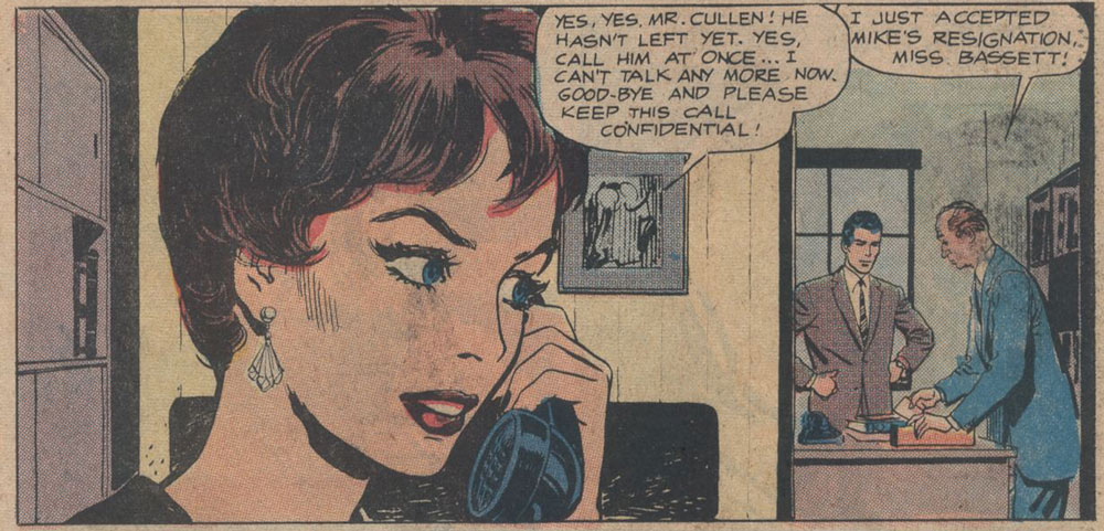 Original art by Ernesto R. Garcia from Career Girl Romances #45, 1964.