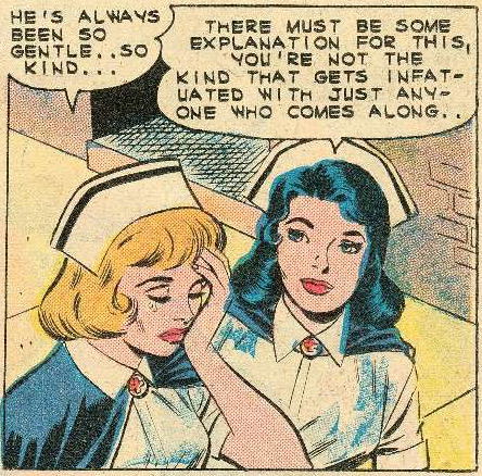 Art by Charles Nicholas from Nurse Betsy Crane #13, 1961.