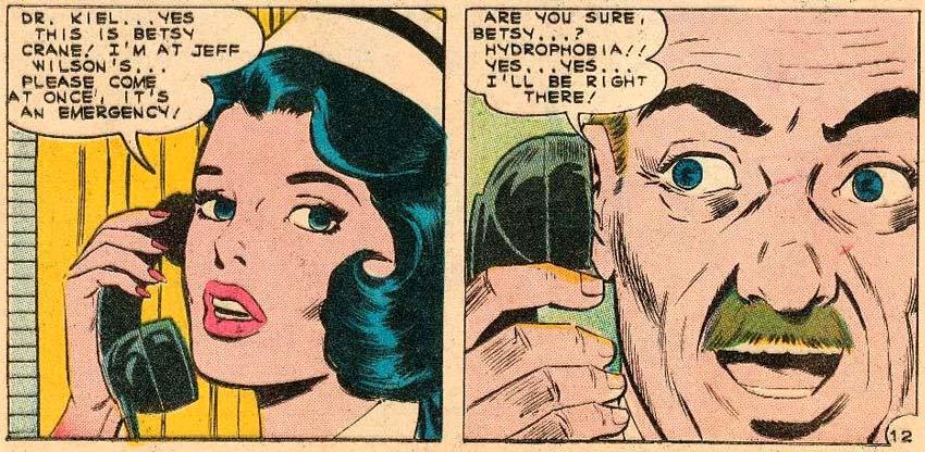 Original art by Charles Nicholas from NURSE BETSY CRANE #13, 1961.