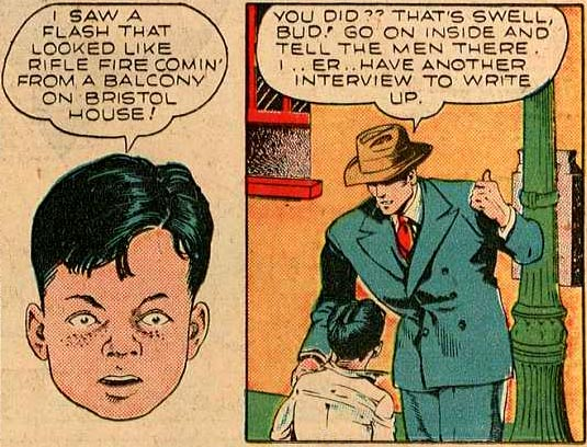 Art by Lou Fine from Smash #26, 1941.