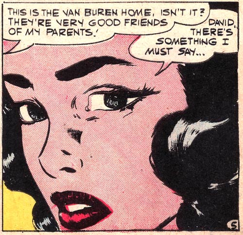Original art by Vince Colletta Studio from First Kiss #11, 1959.