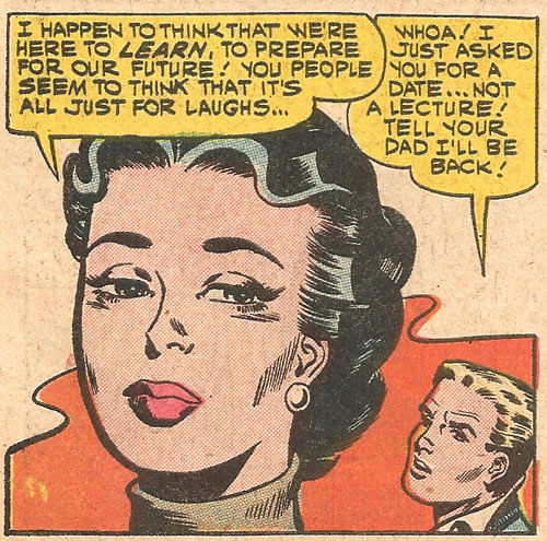 Art by Dick Giordano from First Kiss #13, 1960.