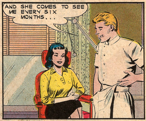 Art by Dick Giordano from First Kiss #31, 1963.