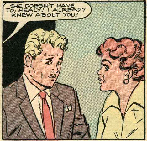 Art by Vince Colletta Studio from Brides in Love #10, 1958.