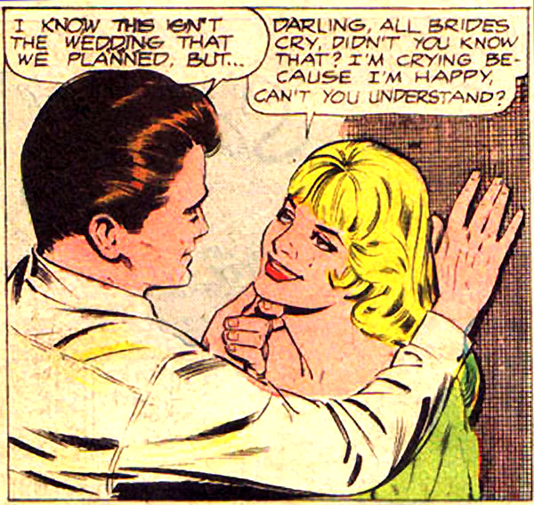 Art by Oscar Novelle in JUST MARRIED #56, 1968.