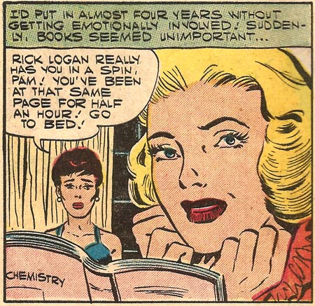 "Art by Art Cappello and Dick Giordano from ""Campus Crush"" in First Kiss #1, 1957."