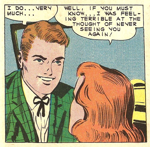 Art by Charles Nicholas & Vince Alascia from First Kiss #21, 1961.
