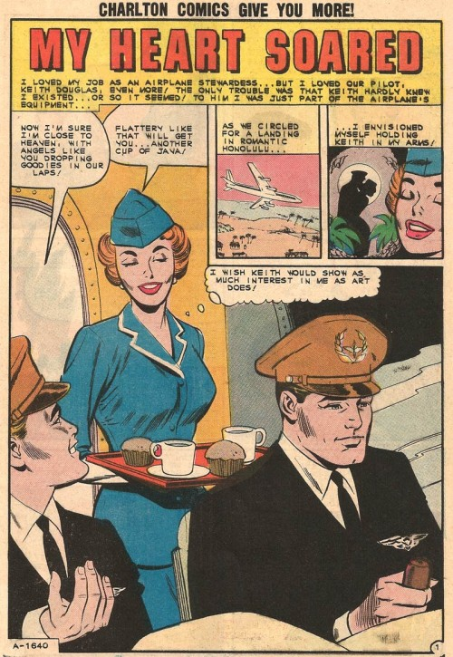 Art by Charles Nicholas and Dick Giordano from First Kiss #28, 1962.