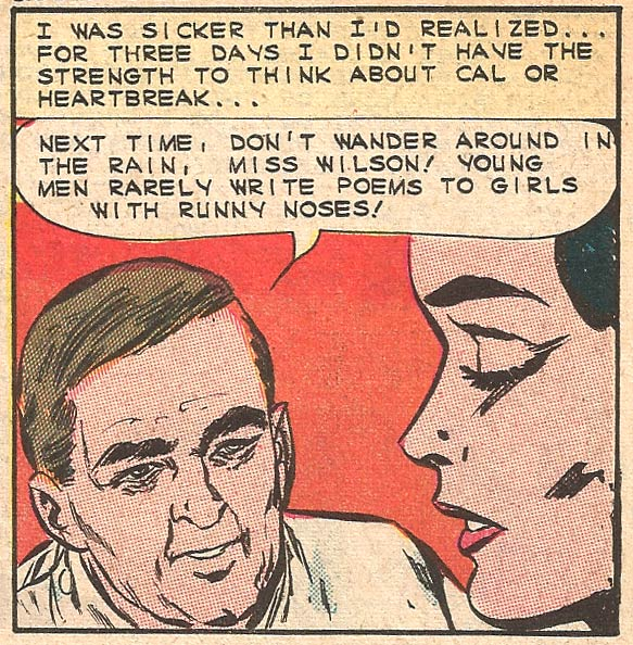Original art by the Vince Colletta Studio in First Kiss #36, 1964.