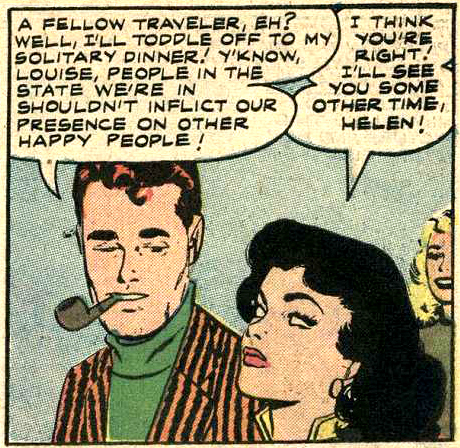 Inked by Vince Colletta in Brides in Love #9, 1958.