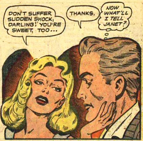 Artist unknown from G.I. War Brides #1, 1954.