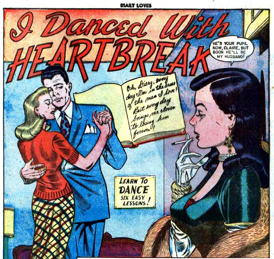 Art by Bill Ward from Diary Loves #9, 1951.