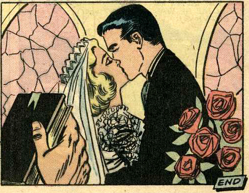 Art by Charles Nicholas & Sal Trapani from Brides in Love #10, 1958.