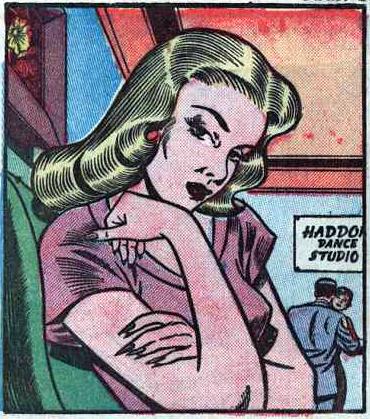 """Art by Bill Ward from """"I Danced with Heartbreak"""" in Diary Loves #9."""