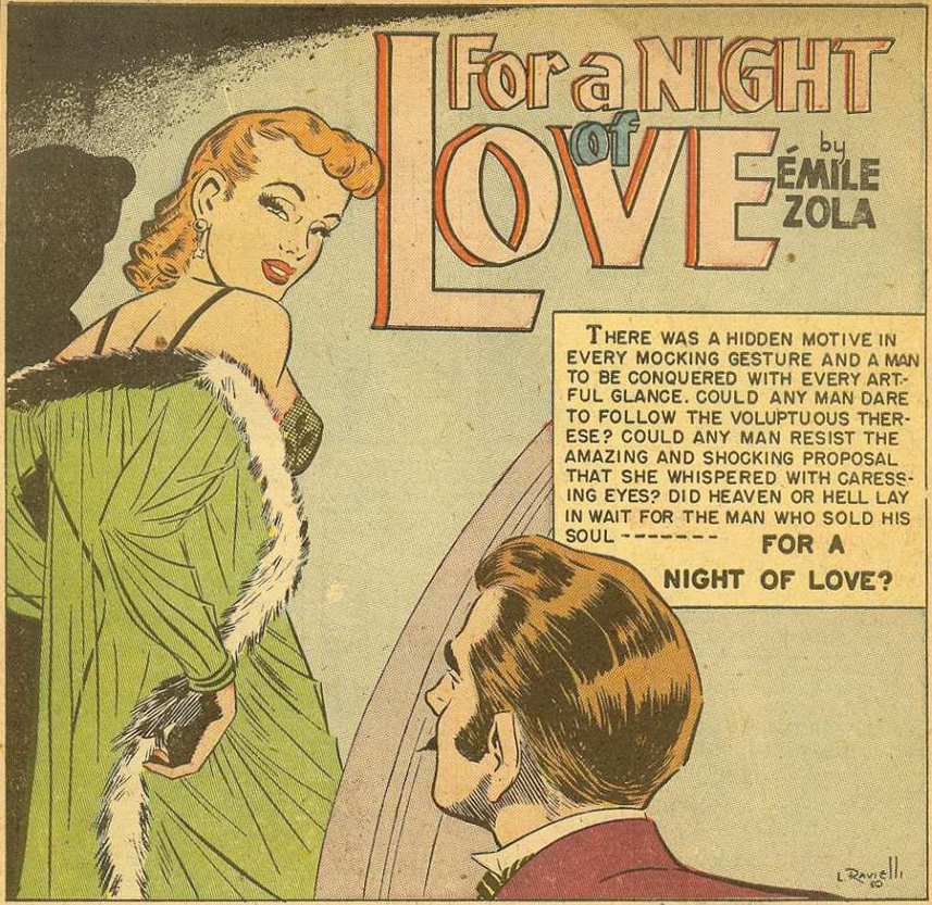 Art by Louis Ravelli from A NIGHT FOR LOVE, 1951.