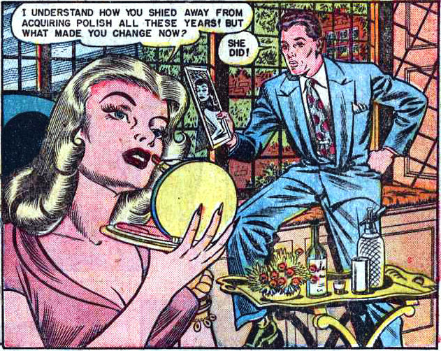 "Art by Bill Ward from ""I Danced with Heartbreak"" in Diary Loves #9, 1951."