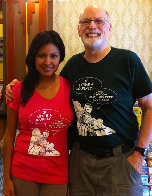 Before the convention, model Mimi Cortez showed me how the new Last Kiss T-shirts look when properly worn. You'll be seeing a lot more of Mimi and the shirts in a few weeks when we launch the Last Kiss sales site.