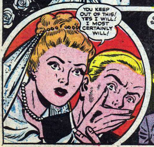 "Unknown artist. Story ""Censored"" from All True Romance #2 (Comic Media), 1951."