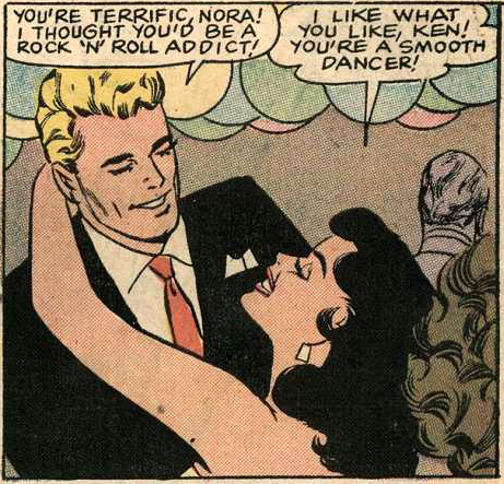 "Art by Vince Colletta Studio from the story ""His Future Bride"" in BRIDES IN LOVE #10, 1958."