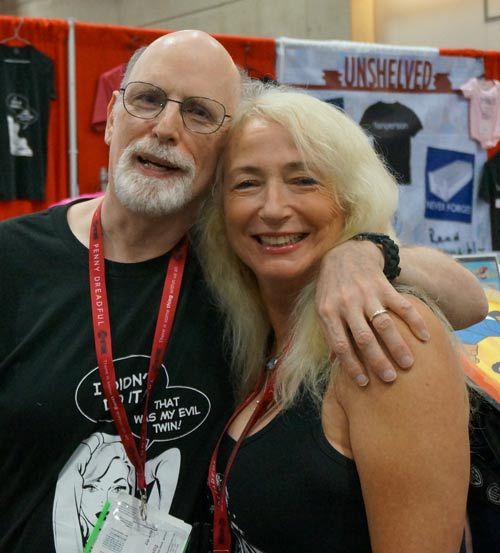 For me, one of the best parts of Comic-Con is always meeting with fans. Robin Riley drops by the booth nearly every year.