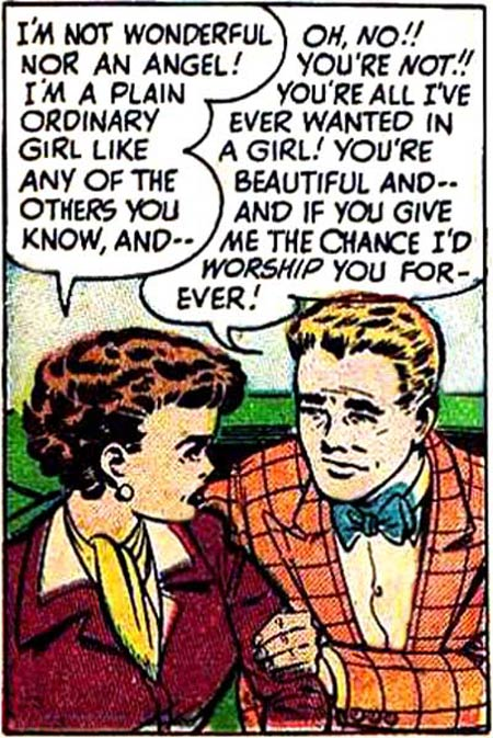 "Pencils by Bob Powell from the story ""I Was the Loneliest Girl in School"" in HI-SCHOOL ROMANCE #3, 1950."