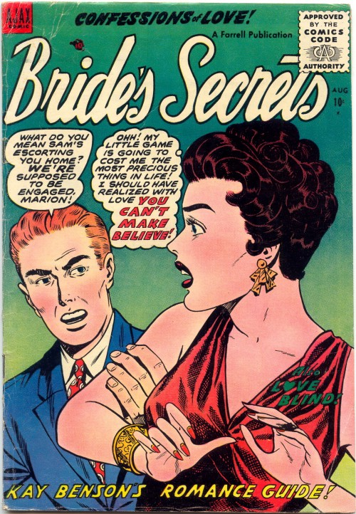 Artist Unknown. BRIDE'S SECRETS #9, 1955.