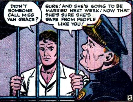 "Artist unknown. Art from the story ""Censored"" in ALL TRUE ROMANCE #2, 1951."