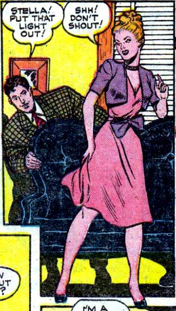 "Artist unknown. Art from the story ""Censored"" in ALL-TRUE ROMANCE #2, 1951."