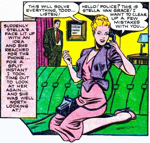 "Artist unknown from the story ""Censored"" in ALL TRUE ROMANCE #2, 1951."