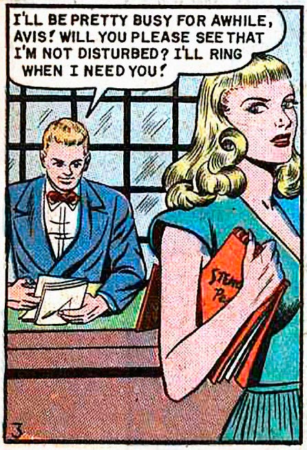 "Artist unknown. From the story ""My Kisses Were Cheap"" in DIARY LOVES #5, 1950."